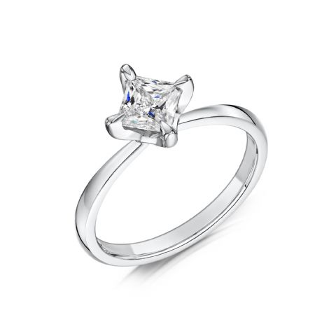 0.4 Carat GIA GVS Diamond solitaire 18ct White Gold. Princess cut. Engagement Ring, MWSS-1193/040